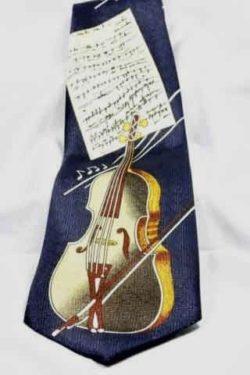 Stropdas Strijkinstrument met Muzieknoten