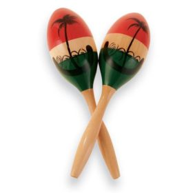 Latin Percussion LP862145 Wood Maracas Medium Painted