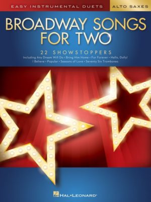 Broadway Songs for Two Alto Saxophones