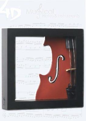 Violin Wall Art 4D Model