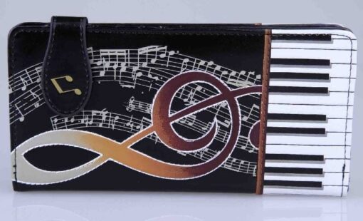 Zipper Wallet: Keyboard Melody Large Bk