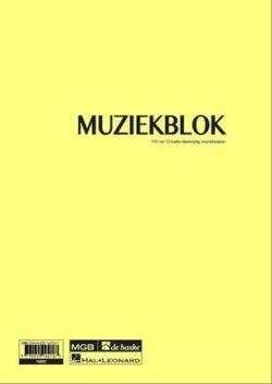 Muziekblok, A4, 100 Vel, 12-balks Muziekpapier