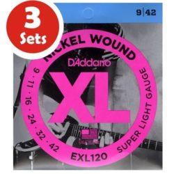 D'addario EXL120 3 Sets