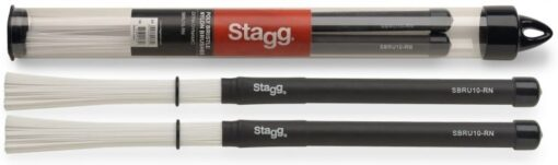 Stagg SBRU10-RN Poly Bristle Nylon Brushes