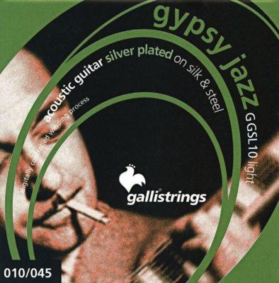 Galli Strings GSL10 Gypsy Jazz Medium Silver Plated on Silk and Steel