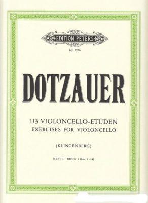 Dotzauer; 113 Violoncello-Etuden, Band I, nr.1-34