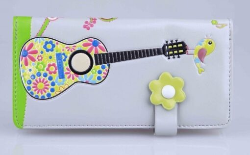 Zipper Wallet: Hippy Guitar Large