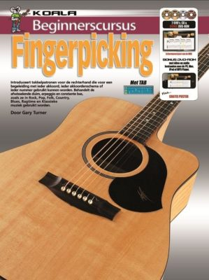 Beginnerscursus Fingerpicking Gitaar (Boek + CD + 2DVD + DVD-ROM)