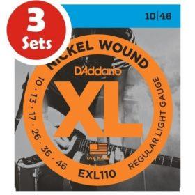 D'addario EXL110 3 Sets