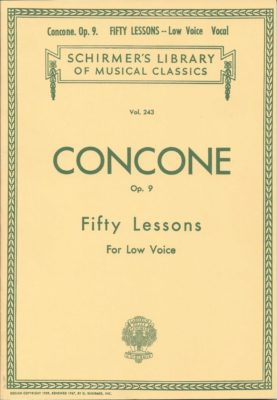 CONCONE; Opus 9; 50 Lessons for Low Voice
