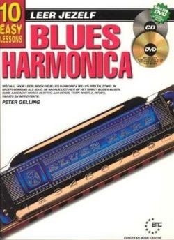 Leer Jezelf Blues Harmonica (Boek + CD + DVD)