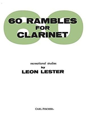 Leon Lester; Rambles(60) for Clarinet