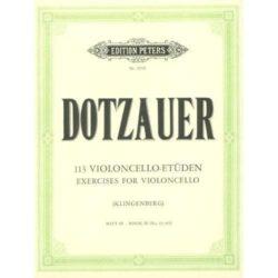 Dotzauer; 113 Violoncello-Etudes, Band II, nr. 35-62