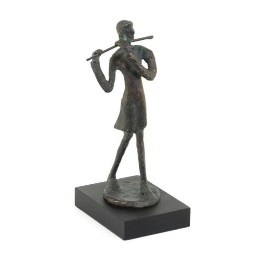 Fluitiste staand op voet - Brons M