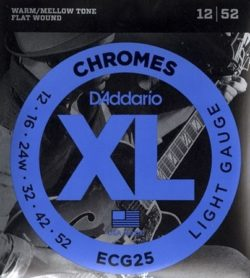 D'addario ECG25 Chromes 12-52 Flatwound