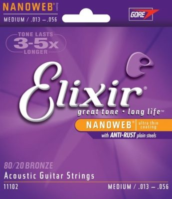 Elixir Nanoweb 11102 Medium 80/20 Bronze