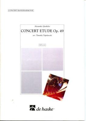 A. Goedicke; Concert Etude Opus 49 (Full Score)