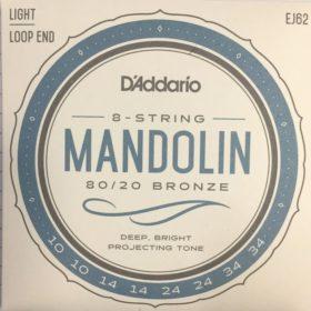 D'addario EJ62 Mandolin 80/20 bronze