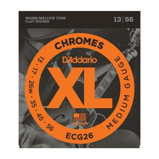 D'addario ECG26 Chromes 13-56 Flatwound