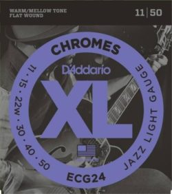 D'addario ECG24 Chromes 11-50 Flatwound