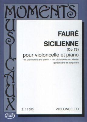 Fauré; Sicilienne, Opus 78 voor Cello en Piano