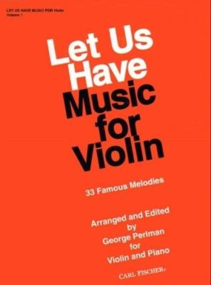 Let Us Have Music For Violin 1