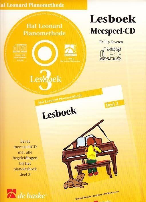 Hal leonard piano Lesboek 3 | Meespeel-CD