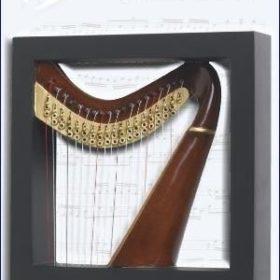 Harp Wall Art 4D Model