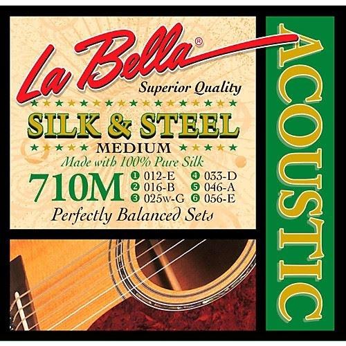 La Bella 710M Silk and steel Medium silverplated