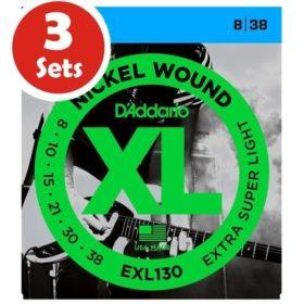 D'addario EXL130 3 Sets