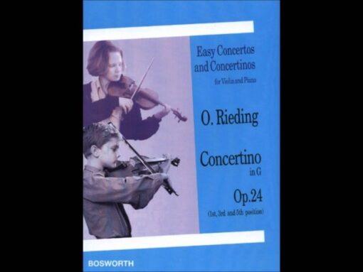 O. Rieding; Concertino in G, Opus 24