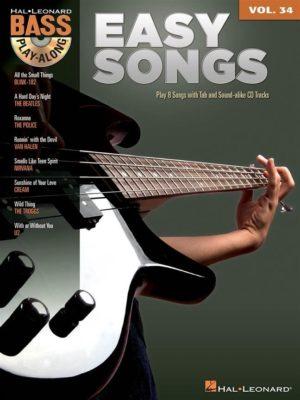 Bass Play-Along: Volume 34 - Easy Songs (+Audio Access)
