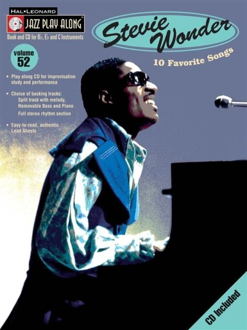 Jazz Play Along: Volume 52 - Stevie Wonder