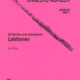 Ernest Köhler; 20 Leichte und Melodische Lektionen, Opus 93 Heft 1