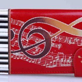 Zipper Wallet: Keyboard Melody Large Rd