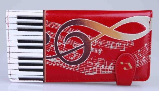 Zipper Wallet: Keyboard Melody Large Rd