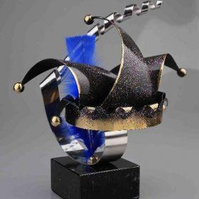 Bipem Art - Prins Carnaval Bl Muts met Steek