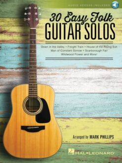 30 Easy Folk Guitar Solos (+ online audio access)