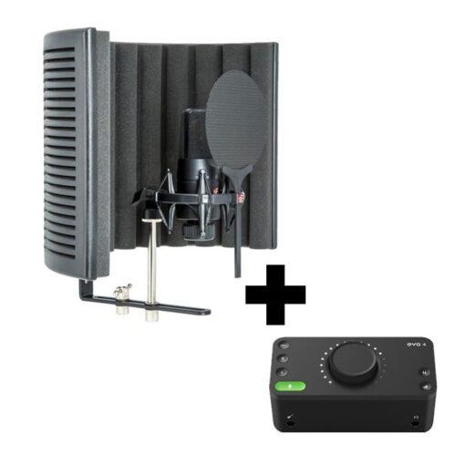 SE Electronics X1S Studio Bundle met Audient EVO-4 interface