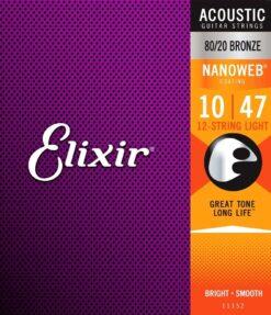 Elixir Nanoweb 11152 Light 80/20 Bronze 12 string